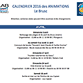 Le calendrier des animations 2016 au brusc est disponible !