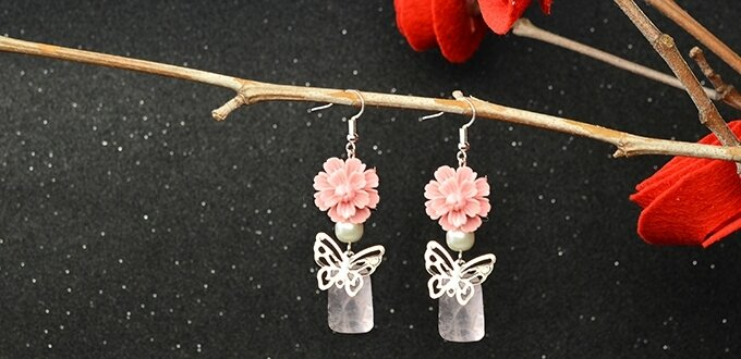 How to Make Fancy Resin Flower Earrings within 5 Minutes (3)