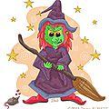 Pas à pas : sorcière d'halloween