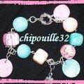 Bracelet avec perle à la peinture acrylique