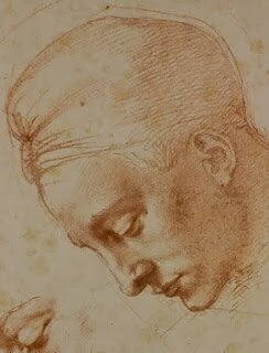Michelangelo, study for the head of Leda - 1529