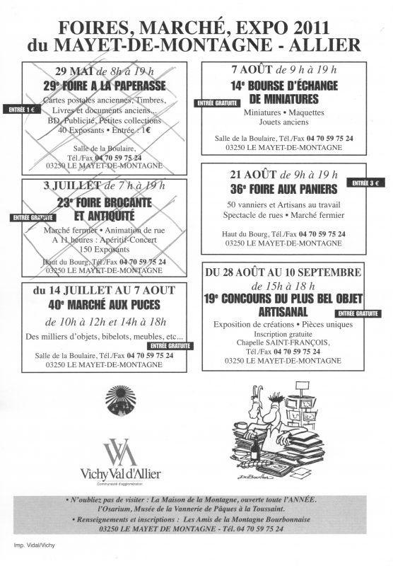 40 eme MARCHE AUX PUCES du MAYET DE MONTAGNE