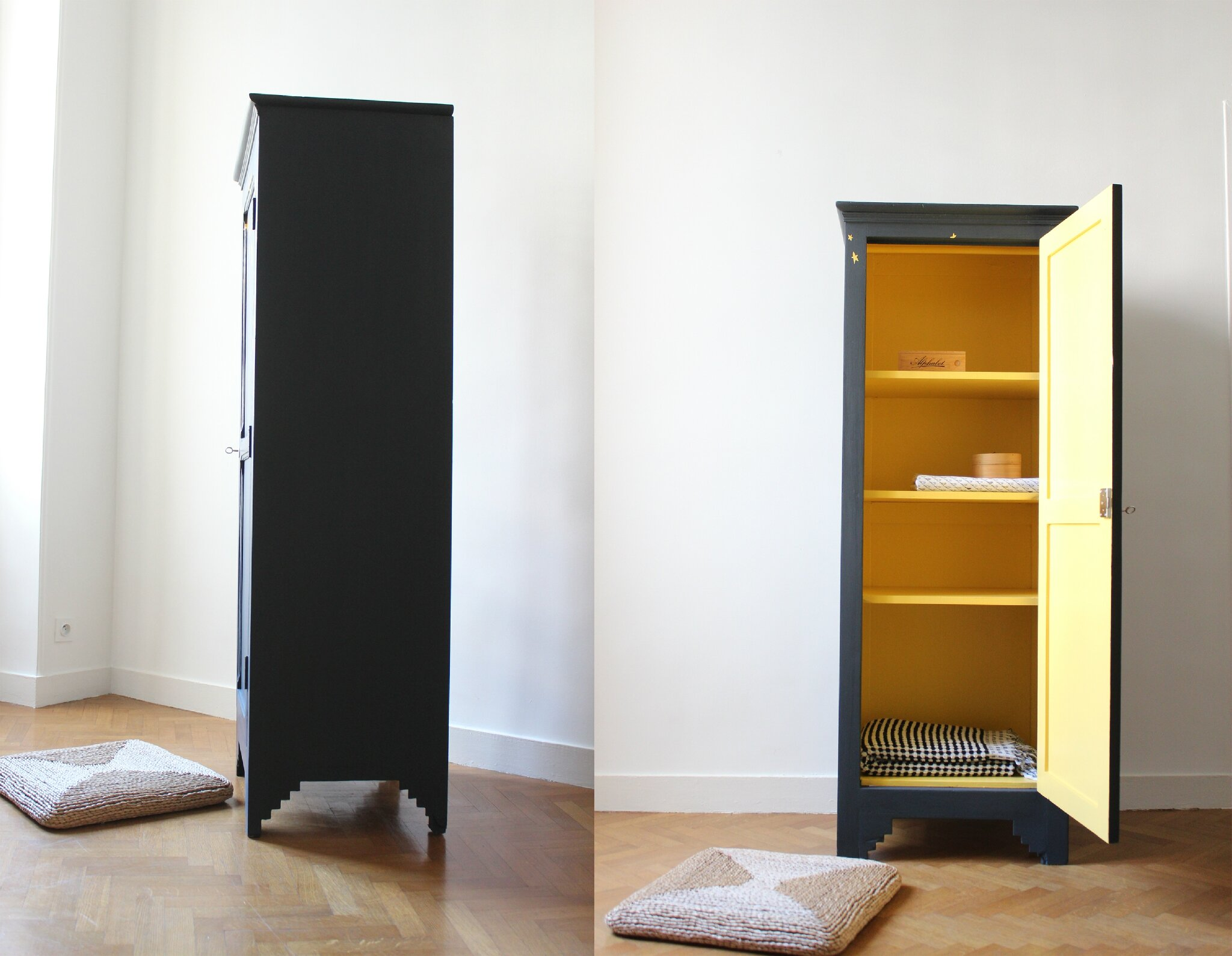 petite armoire vintage aux etoiles trendy little. Black Bedroom Furniture Sets. Home Design Ideas
