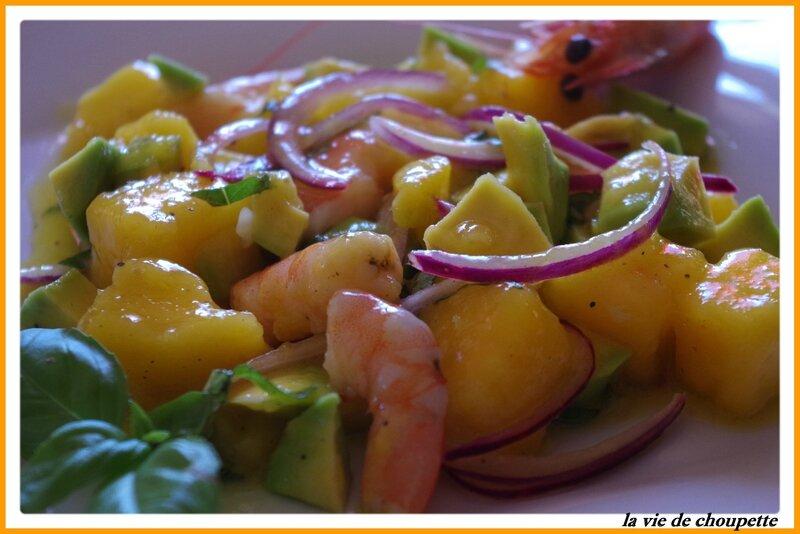 salade mangue, crevettes, avocat et basilic-101
