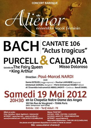 AFFICHE SAMEDI 19 MAI 2012 NOTRE DAME DES ANGES