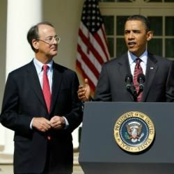 Erskine Bowles and Barack obama
