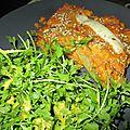 Lasagnes lentille corail / poireaux / crème de soja