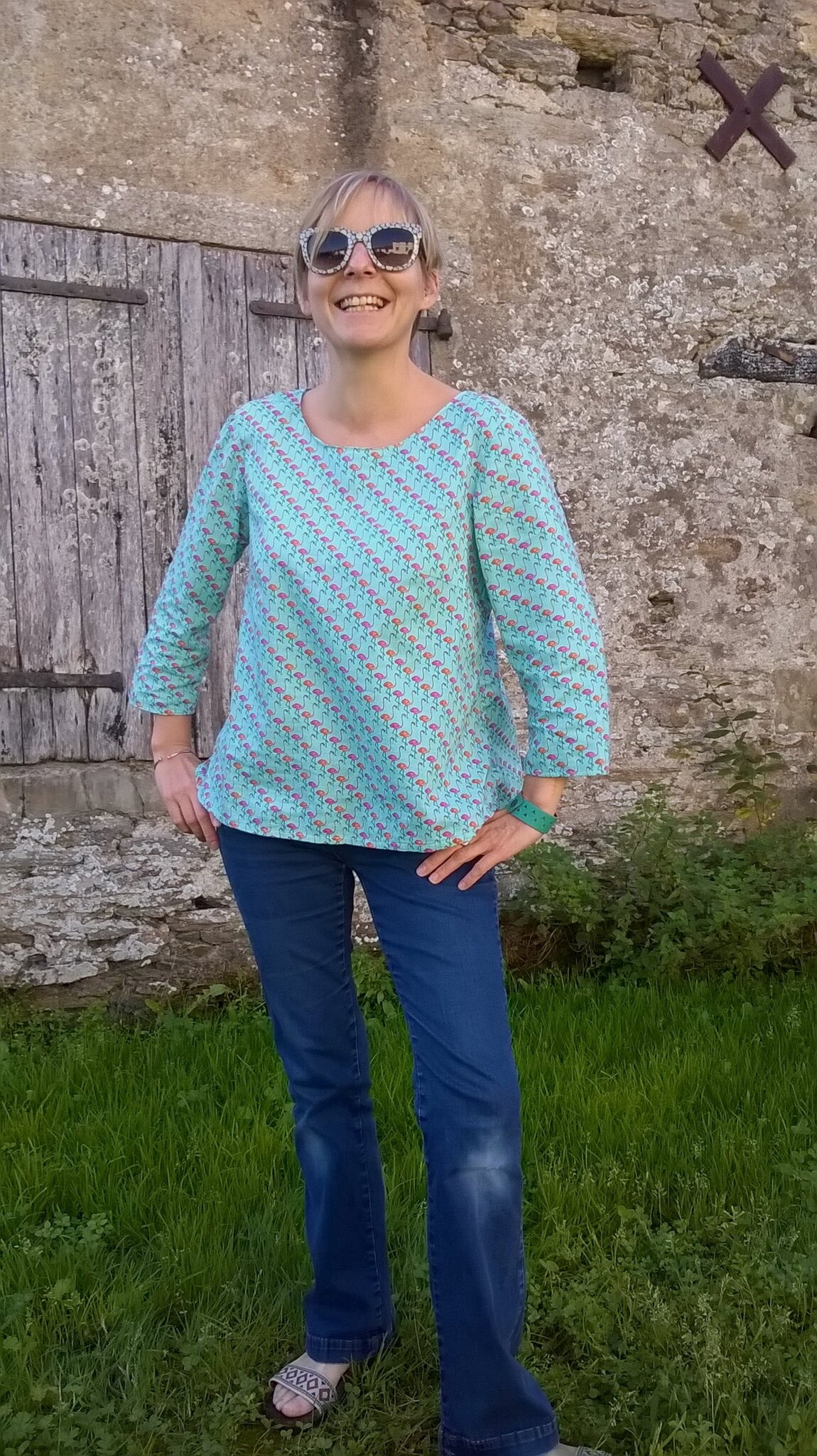 Une Blouse de Flamants Roses