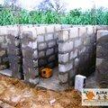latrines CEG - montages des murs 1