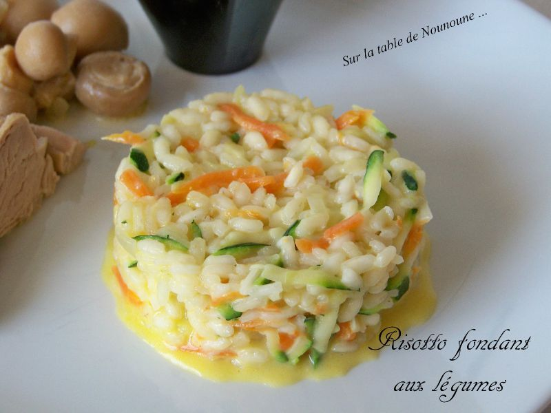 risotto fondant aux l gumes sur la table de nounoune. Black Bedroom Furniture Sets. Home Design Ideas