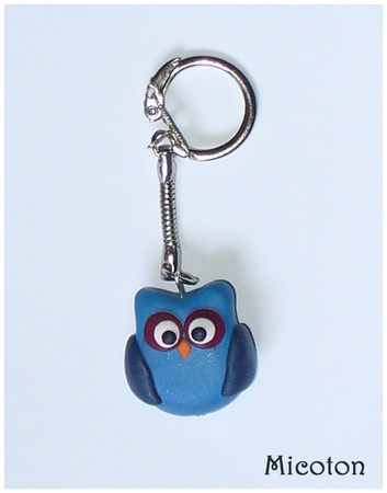 porte clefs chouette