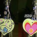 Coeurs porte-clés