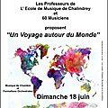 Voyage autour du monde à chalindrey le 18 juin