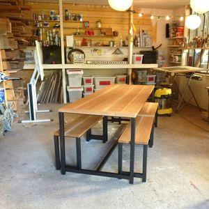 table chene acier