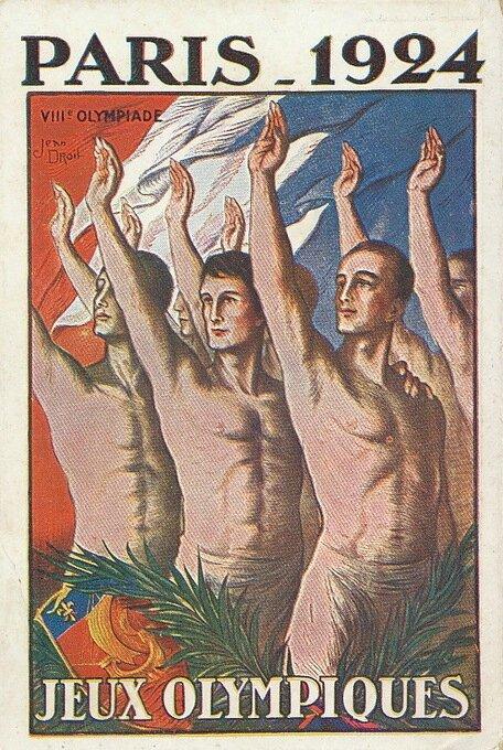 Carte postale Affiche JO Paris 1924 Droit