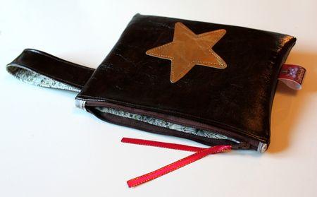 pochette cuir et or envoi