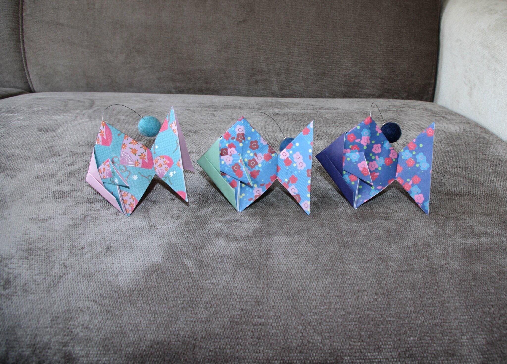 Déco Origami : Origami mobiles déco de porte trousses toilette