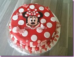 Gâteau Minnie ( ganache kinder)