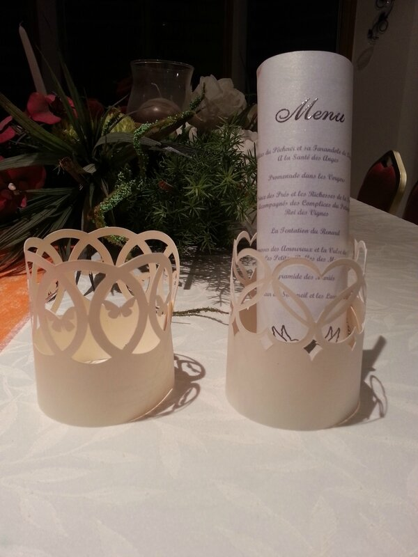 Porte-menu Coeur-Papillon