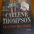 Un thriller : le crime des roses
