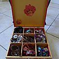 boîte à bijou décorée