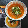 Soupe compléte carottes quinoa et tzatziki dédiée à marie.