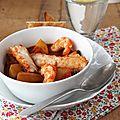 Mon ragoût de lieu noir au curry rouge, ma cuisine riche en parfums et en couleurs.