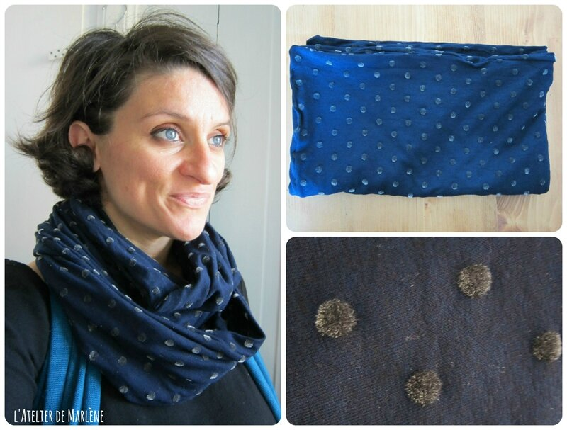 Collage blue snood