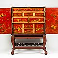 A cabinet with stand, china, 18th century