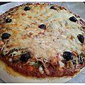 Ma pizza à la viande hachée faite maison