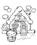 christmas holidays hello kitty coloring sheet