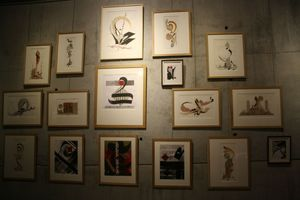 Abd elMalik Nounouhi exposition Avranches Scriptorial calligraphie 2012 tableaux