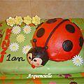 gâteau coccinelle 2