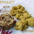 Poulet au beurre de cacahuète et au lait de coco, sauce satay