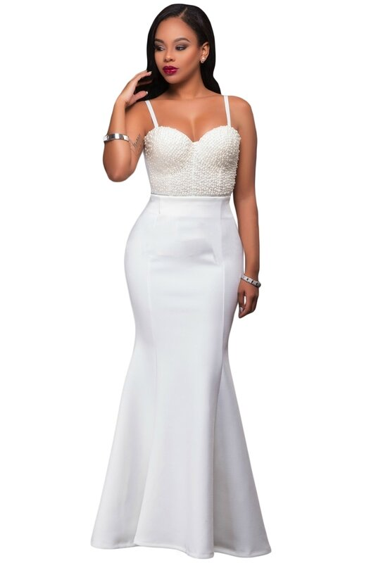 jupe sirène blanche soirée cérémonie (1)