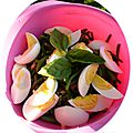 Salade de haricots verts vinaigrette basilic