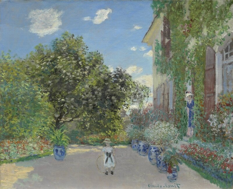 the_artists_house_at_argenteuil_1873_claude_monet