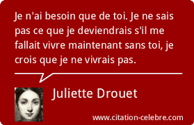 Citation Juliette Drouet