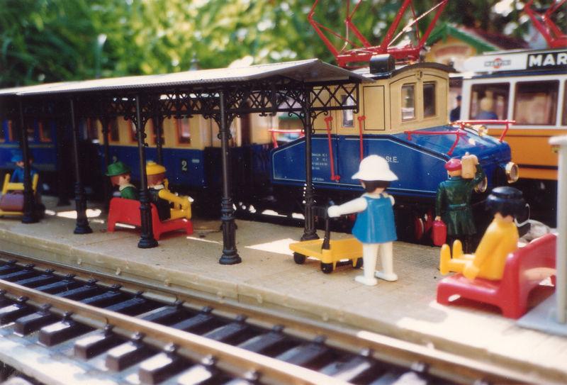 Ambiance de quai à Villefort 1991