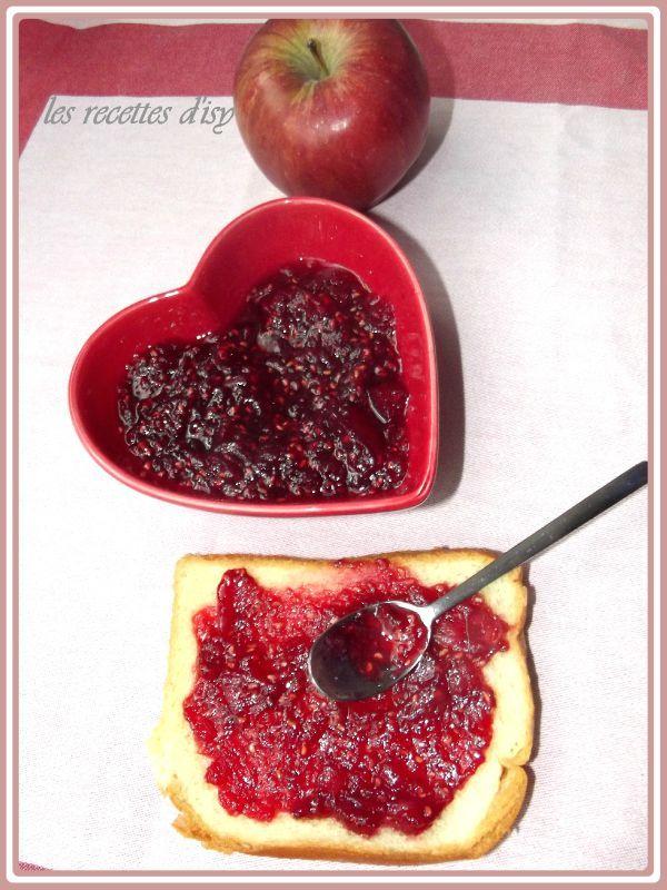 confiture pomme framboise
