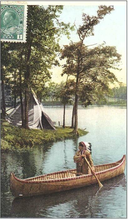 Canoë indien, sur le lac des Settons ?