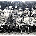 La malmaison, octobre 1917, les officiers du 3e bataillon du 149e r.i..