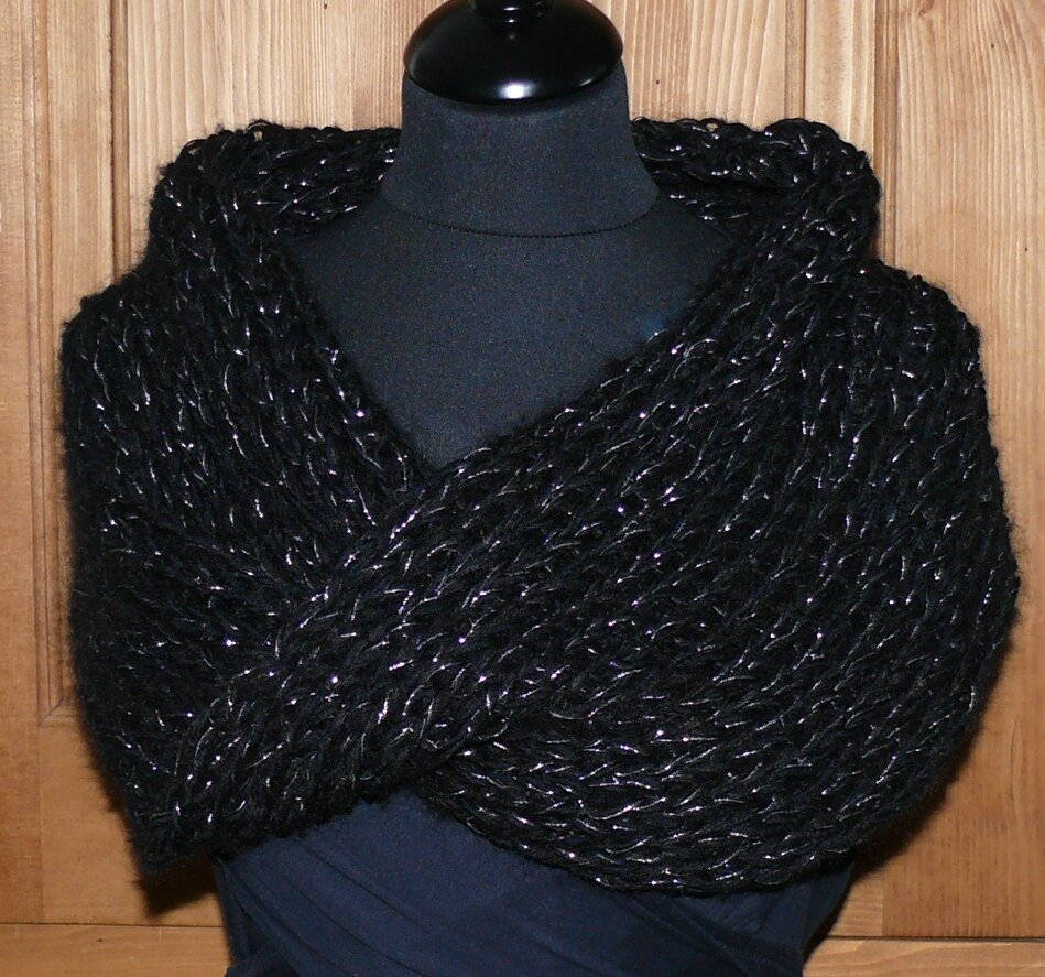 modele tricot facile snood