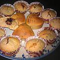 Muffins au lait de coco et nutella