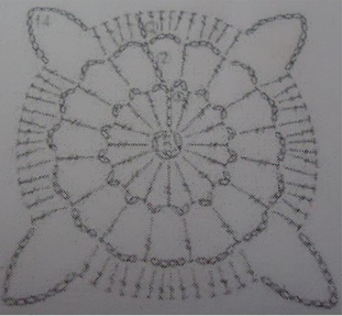 motif de la tunique vitrail