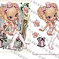 Fee chapeau rose