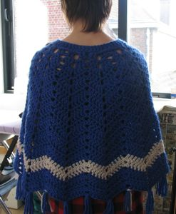 poncho AM-21- Natural colour no kagibariami komono- Mufler, Shawl, Poncho, Vest