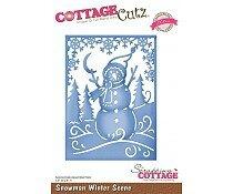 scrapping-cottage-cottagecutz-snowman-winter-scene