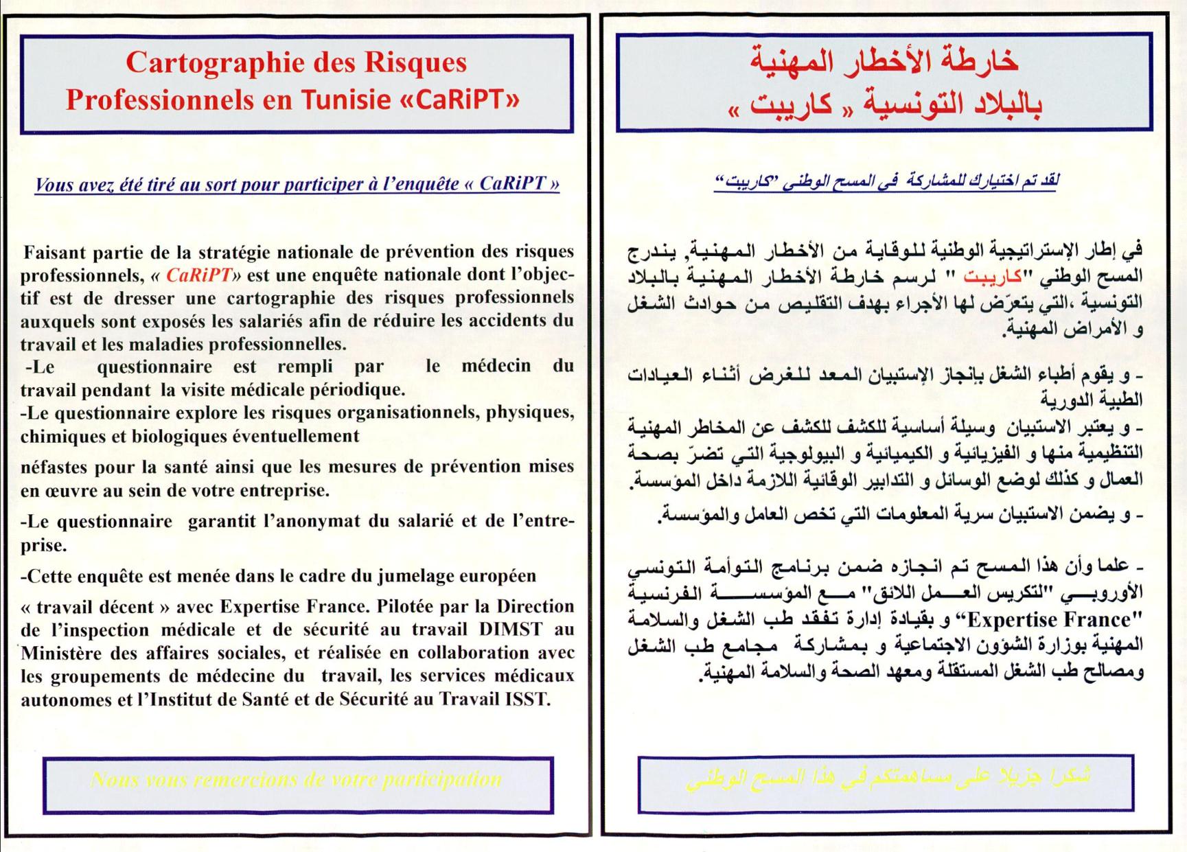 ministère sociale tunisie
