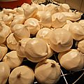 Meringues blanches